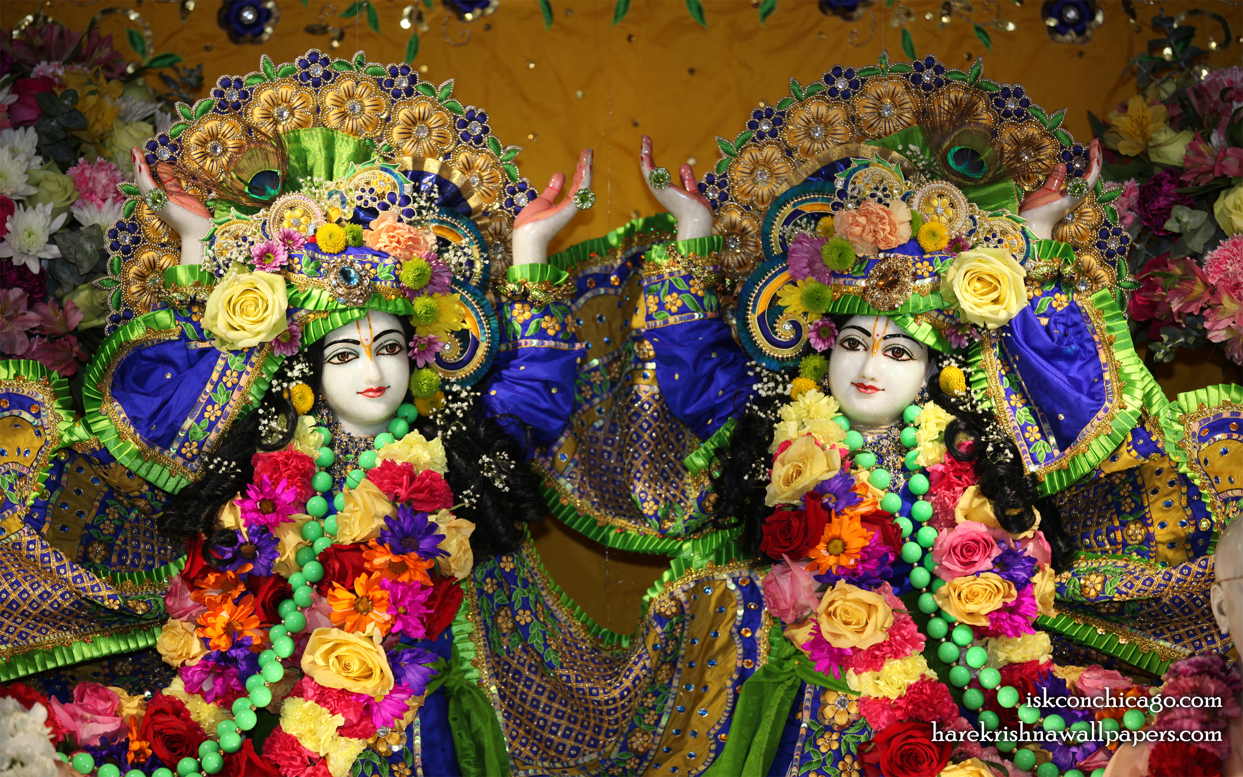 Sri Sri Gaura Nitai Close up Wallpaper (001) Size 2560x1600 Download
