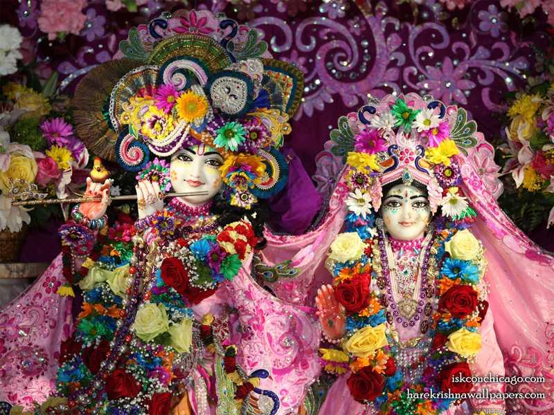 Sri Sri Kishore Kishori Close up Wallpaper (016)