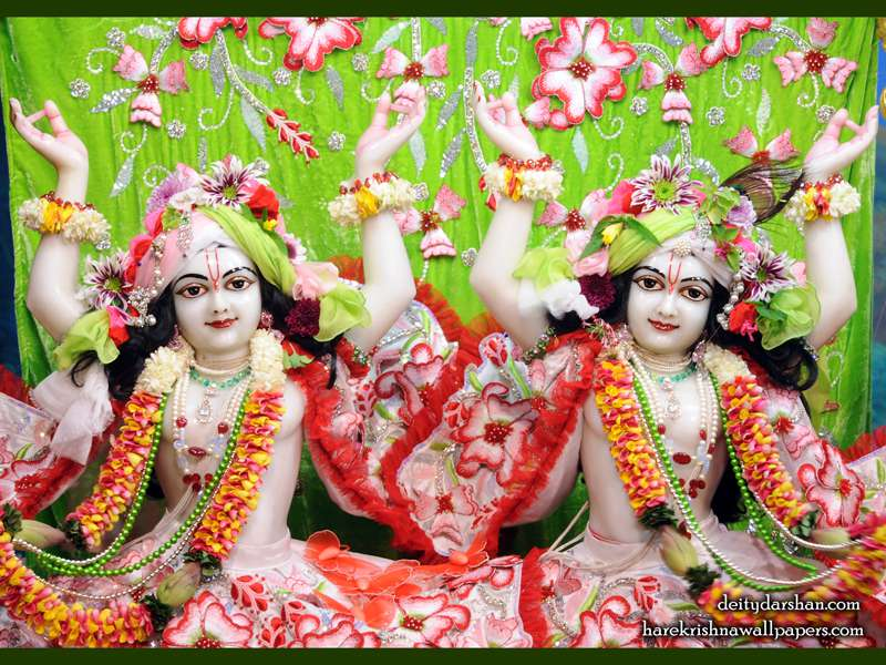 Sri Sri Nitai Gaurachandra Close up Wallpaper (025)