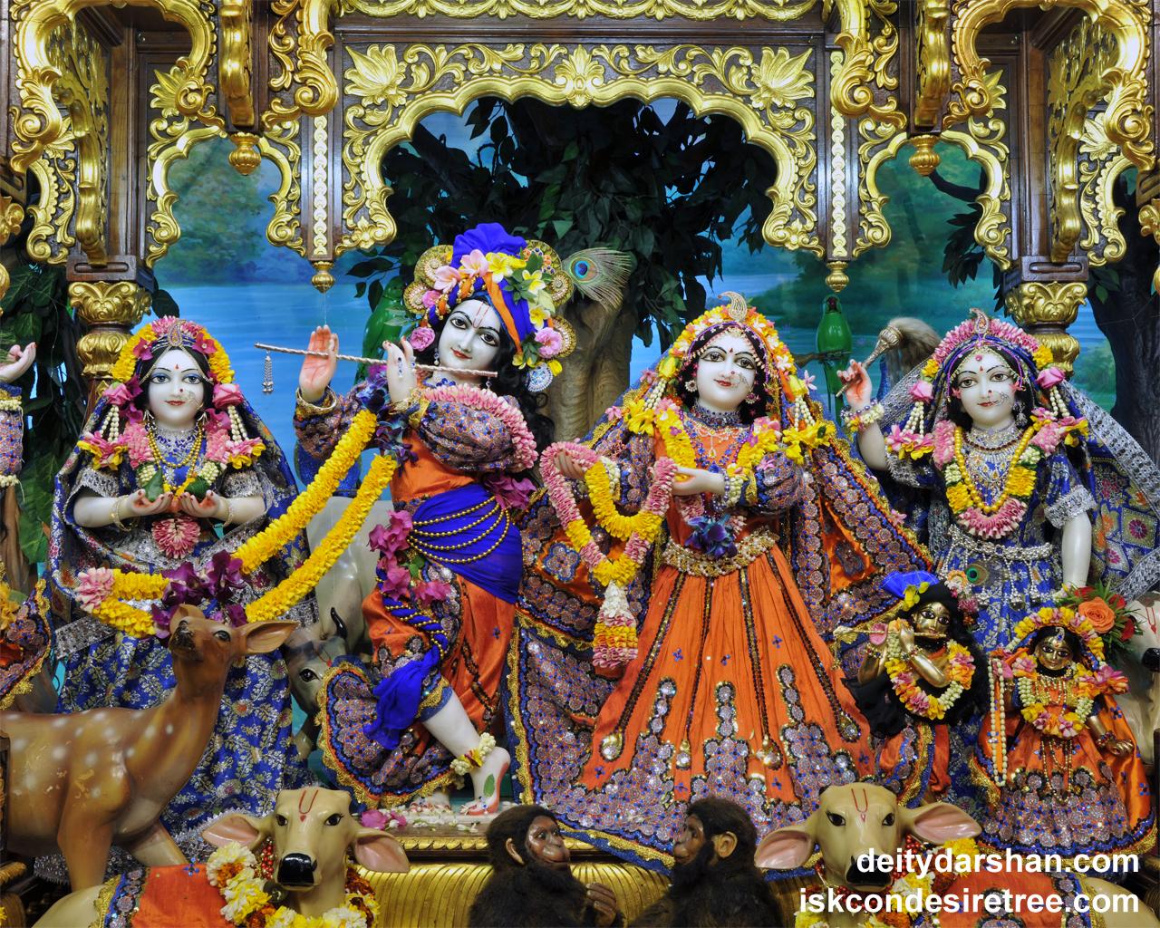 Sri Sri Radha Gopinath Lalita Vishakha Wallpaper (051) Size 1280x1024 Download