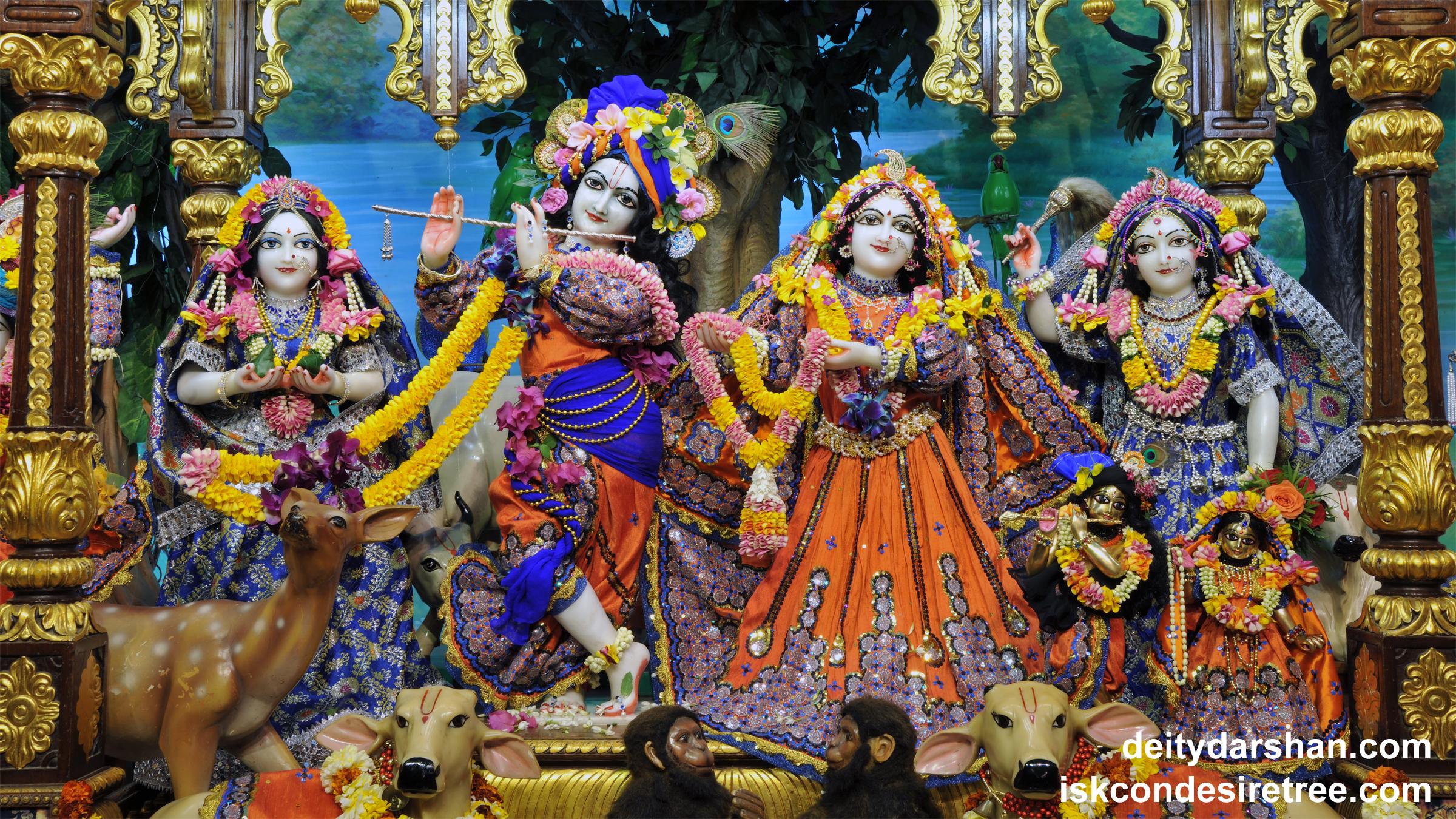 Sri Sri Radha Gopinath Lalita Vishakha Wallpaper (051) Size 2400x1350 Download