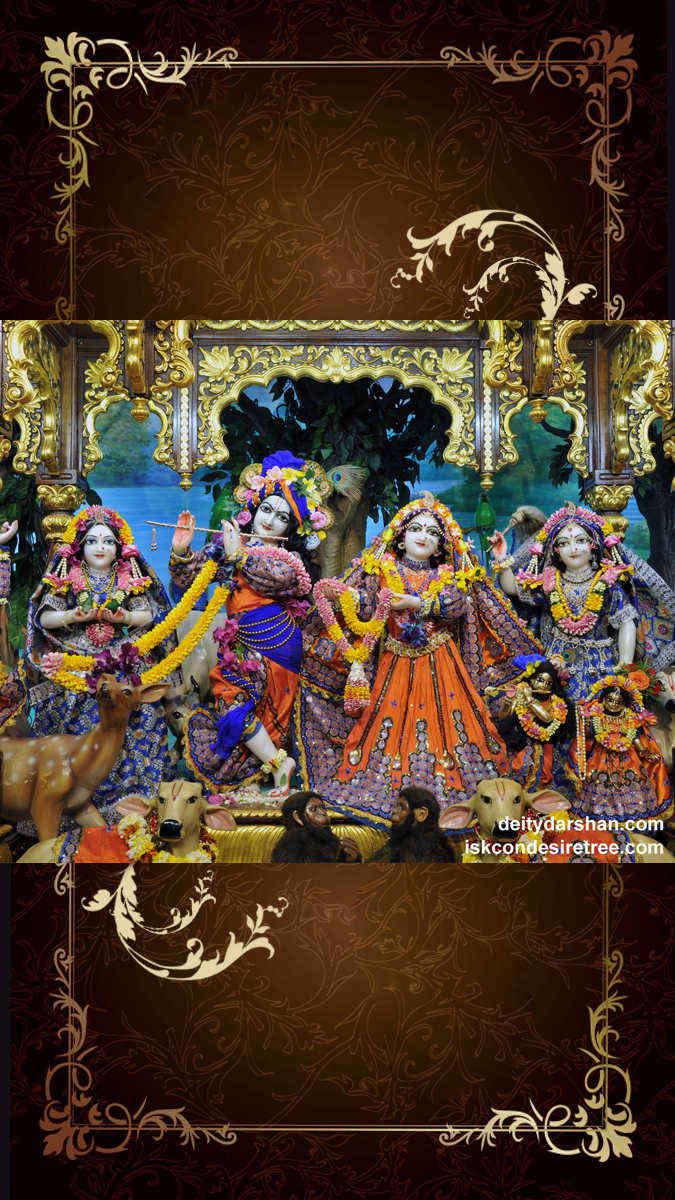 Sri Sri Radha Gopinath Lalita Vishakha Wallpaper (051) Size 675x1200 Download