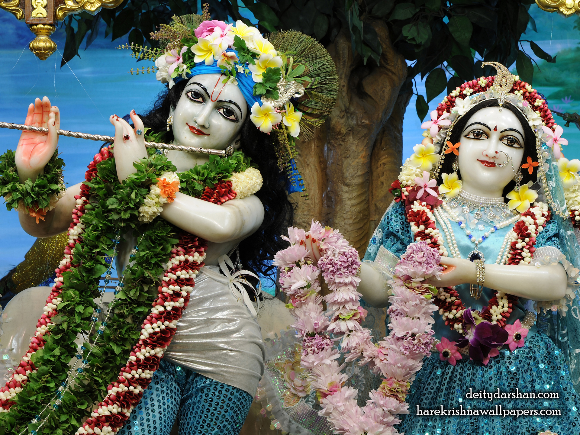 Sri Sri Radha Gopinath Close up Wallpaper (070) Size 1920x1440 Download