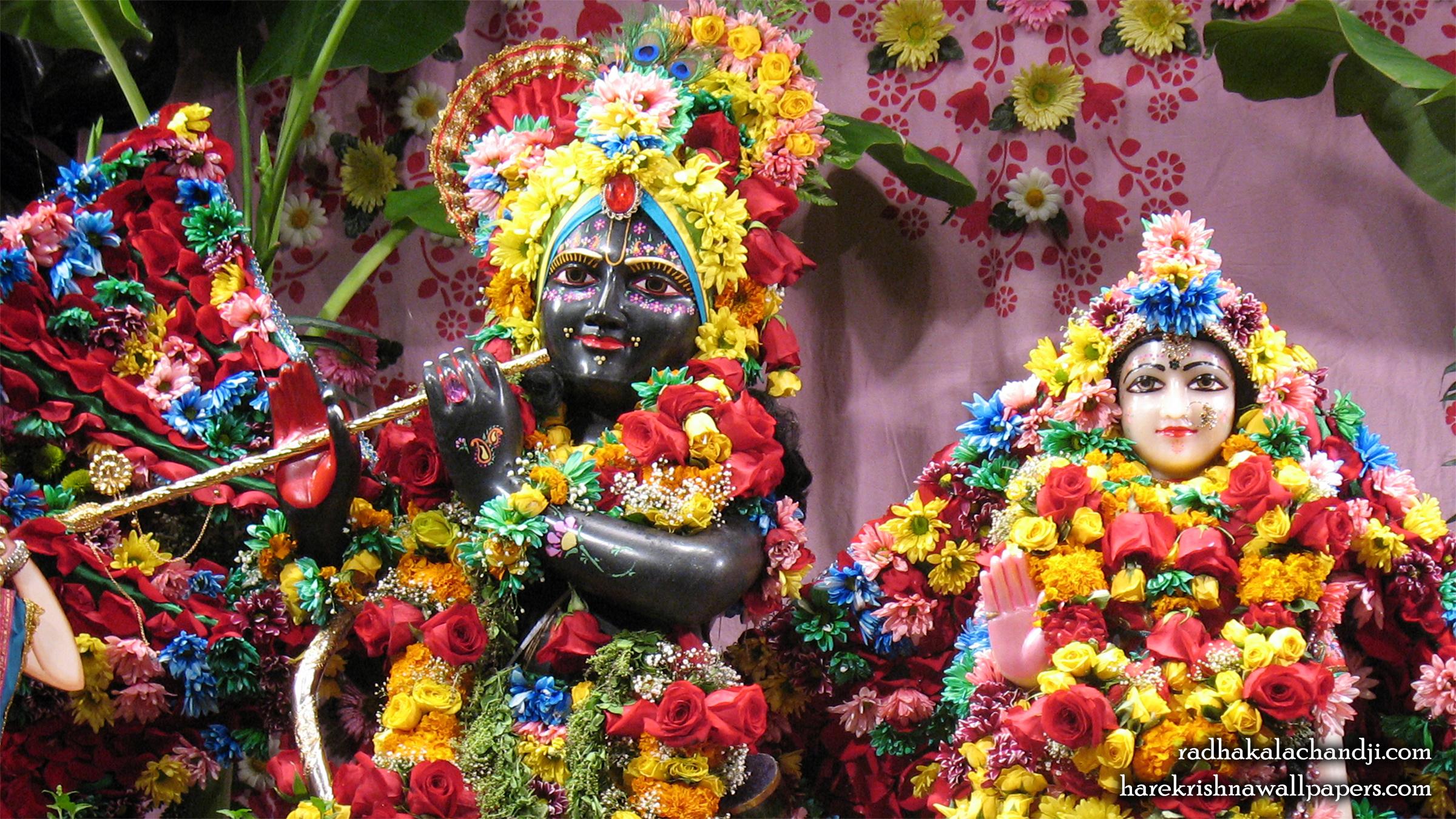 Sri Sri Radha Kalachanda Close up Wallpaper (001) Size 2400x1350 Download