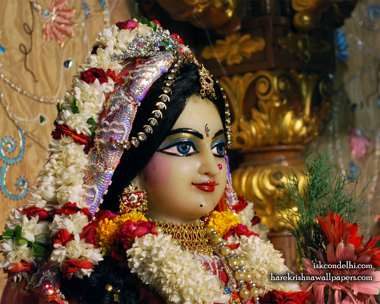 Sri Radha Close up Wallpaper (004) Size 1280x1024 Download