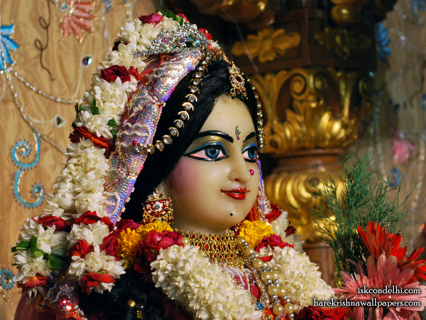 Sri Radha Close up Wallpaper (004) Size 1400x1050 Download