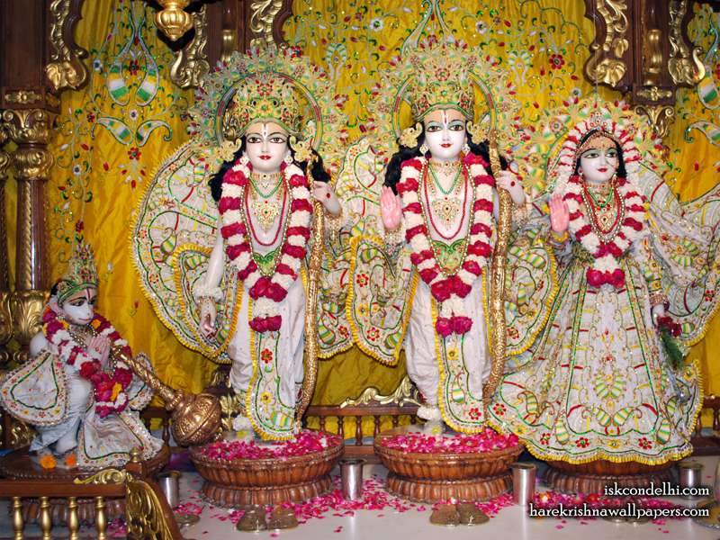 Sri Sri Sita Rama Laxman Hanuman Wallpaper (005)