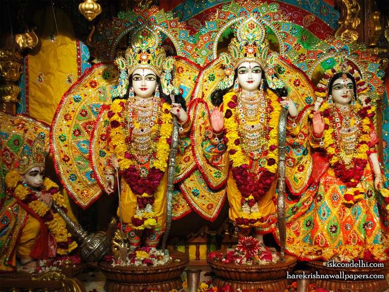 Sri Sri Sita Rama Laxman Hanuman Wallpaper (006)