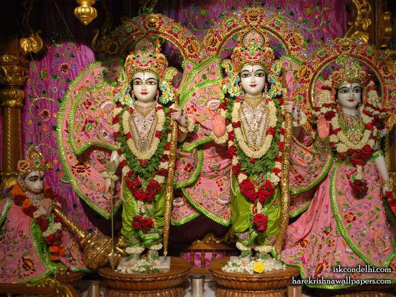 Sri Sri Sita Rama Laxman Hanuman Wallpaper (007)