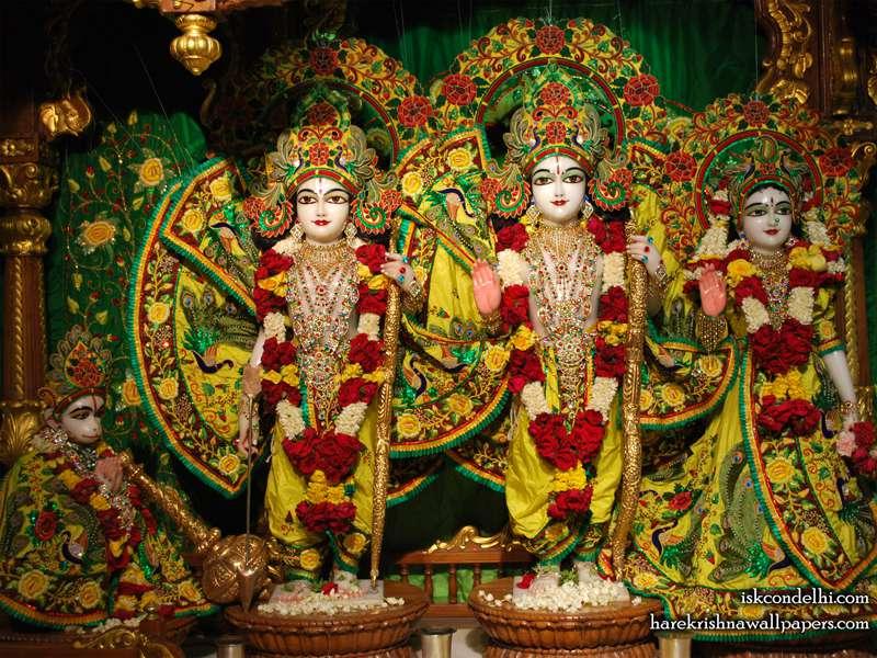 Sri Sri Sita Rama Laxman Hanuman Wallpaper (015)