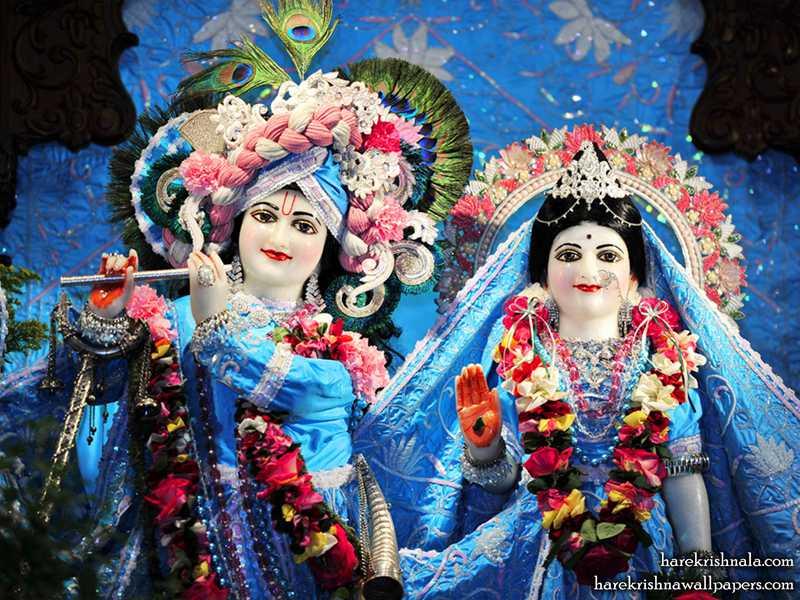 Sri Sri Rukmini Dwarkadhish Close up Wallpaper (003)