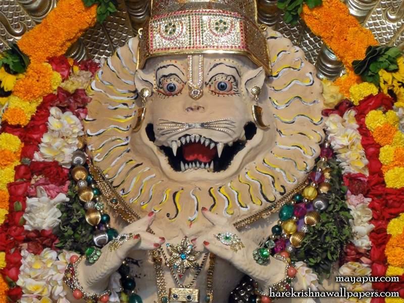 Sri Narasimha Deva Close up Wallpaper (003)