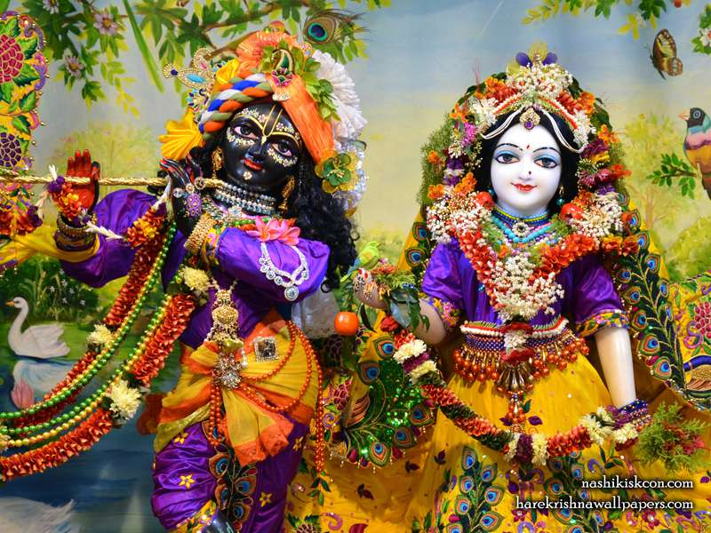 Sri Sri Radha Madan Gopal Close up Wallpaper (010)