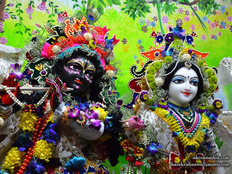 Sri Sri Radha Madan Gopal Close up Wallpaper (012)