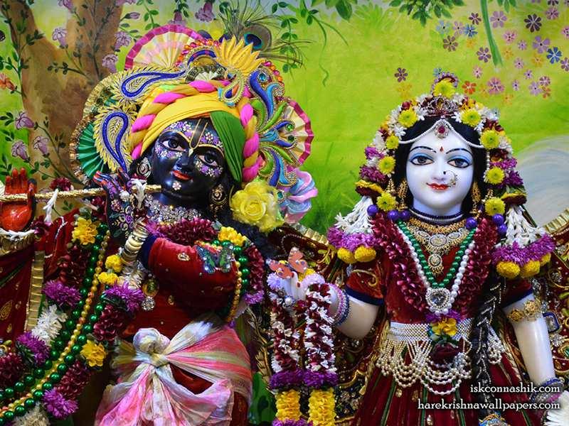 Sri Sri Radha Madan Gopal Close up Wallpaper (015)