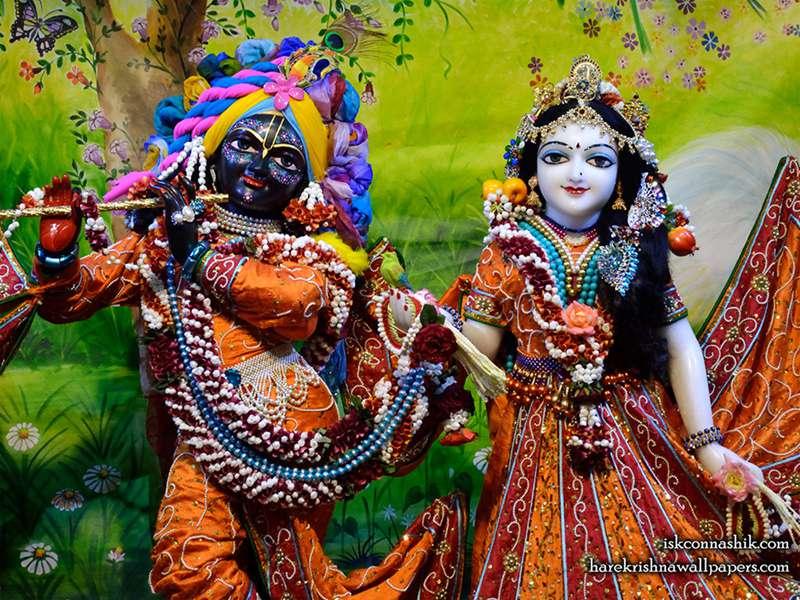Sri Sri Radha Madan Gopal Close up Wallpaper (018)