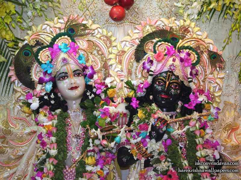 Sri Sri Krishna Balaram Close up Wallpaper (002)