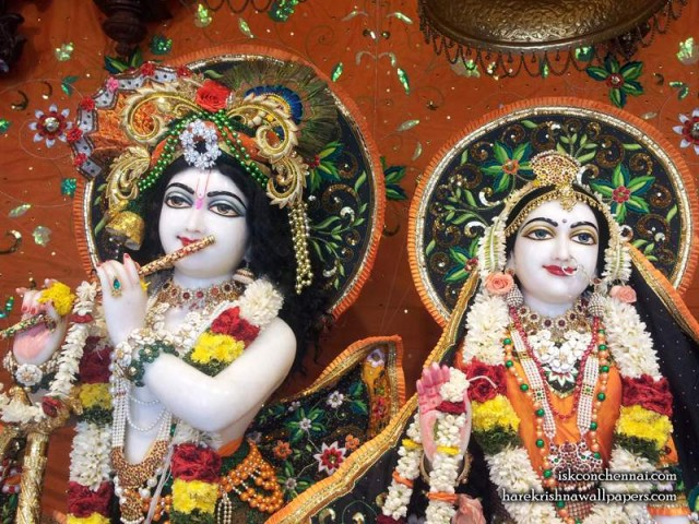 Sri Sri Radha Krishna Close up Wallpaper (003)
