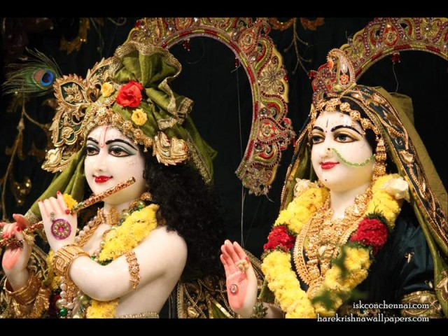 Sri Sri Radha Krishna Close up Wallpaper (004)