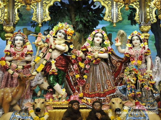 Sri Sri Radha Gopinath Lalita Vishakha Wallpaper (034)