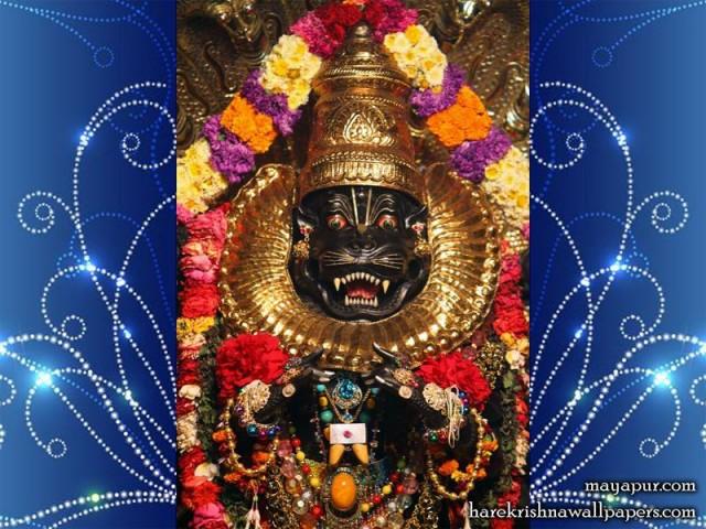 Sri Narasimha Deva Close up Wallpaper (001)