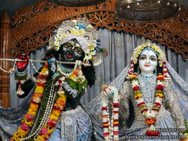 Sri Sri Radha Madhava Close up Wallpaper (003)