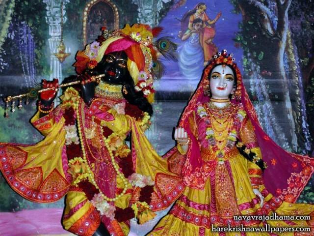 Sri Sri Radha Shyamsundar Close up Wallpaper (003)