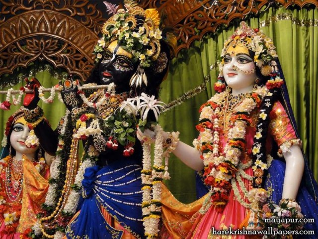 Sri Sri Radha Madhava Close up Wallpaper (007)