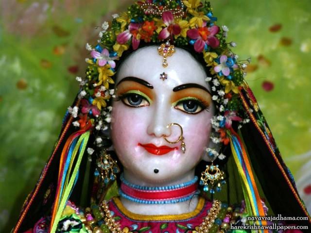 Sri Radha Close up Wallpaper (023)