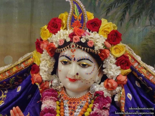 Sri Radha Close up Wallpaper (001)