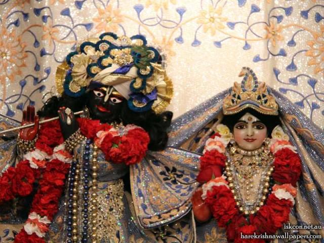 Sri Sri Radha Vallabh Close up Wallpaper (002)