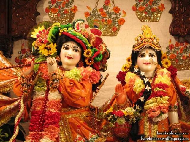 Sri Sri Rukmini Dwarkadhish Close up Wallpaper (002)