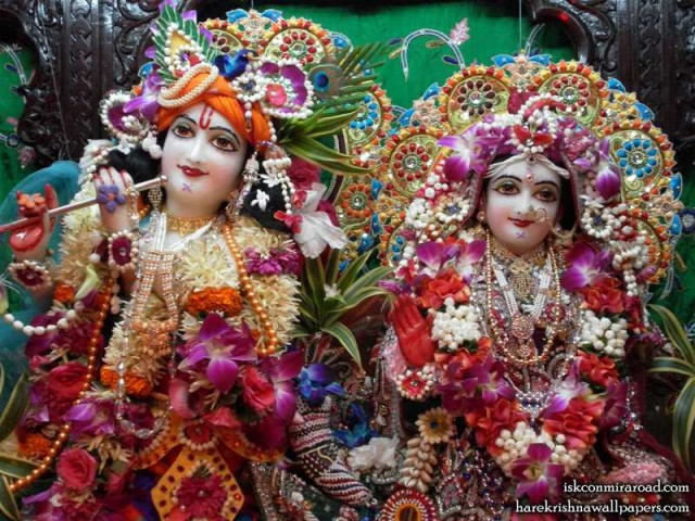 Sri Sri Radha Giridhari Close up Wallpaper (004)