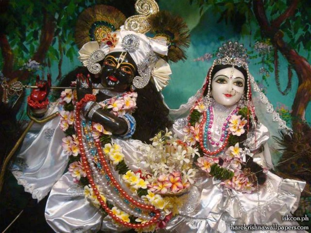 Sri Sri Radha Madhava Close up Wallpaper (004)