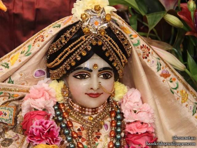 Sri Radha Close up Wallpaper (006)