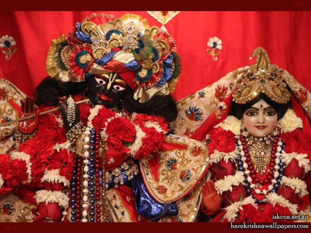 Sri Sri Radha Vallabh Close up Wallpaper (007)