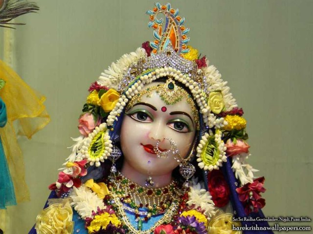Sri Radha Close up Wallpaper (009)