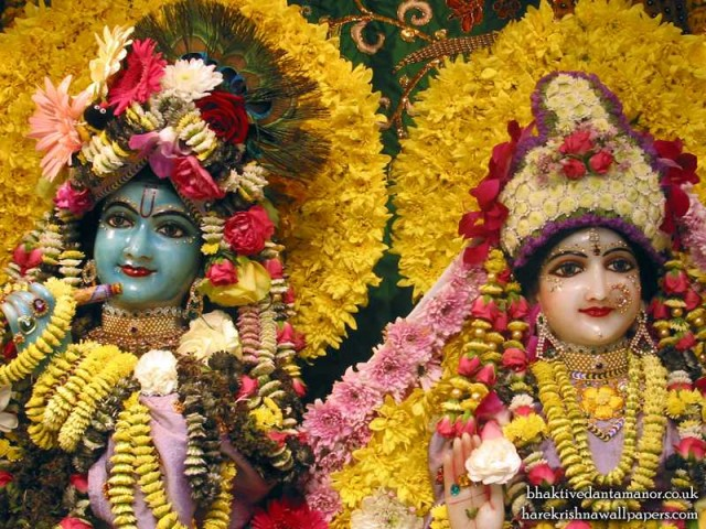 Sri Sri Radha Gokulanand Close up Wallpaper (009)