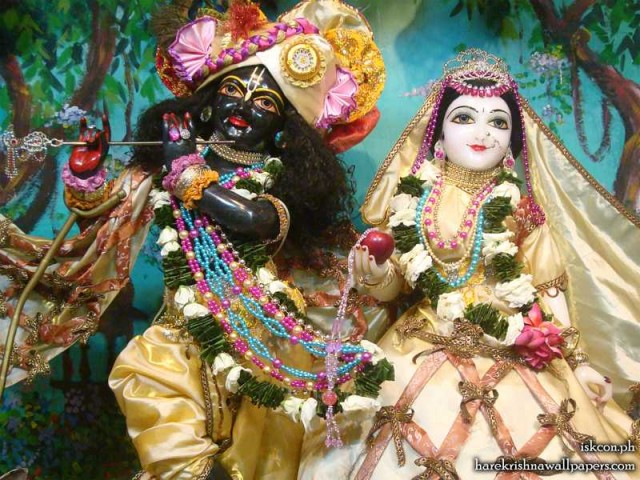 Sri Sri Radha Madhava Close up Wallpaper (010)