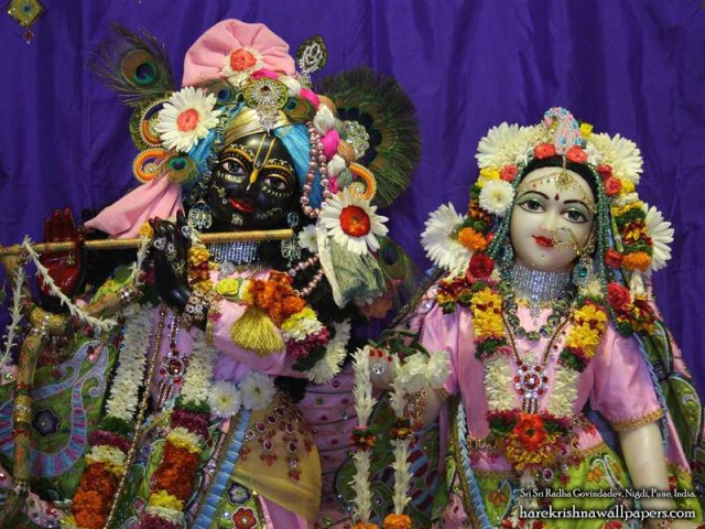Sri Sri Radha Govind Close up Wallpaper (012)