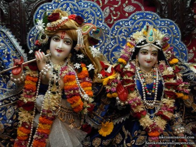Sri Sri Radha Giridhari Close up Wallpaper (015)