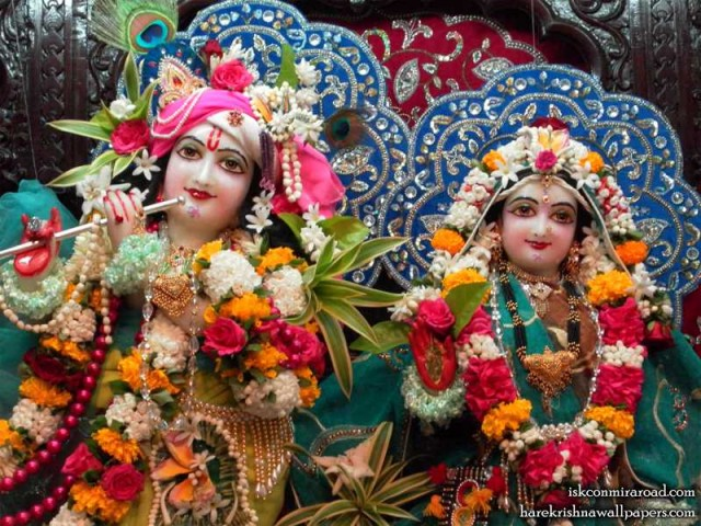 Sri Sri Radha Giridhari Close up Wallpaper (017)