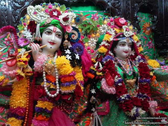Sri Sri Radha Giridhari Close up Wallpaper (024)