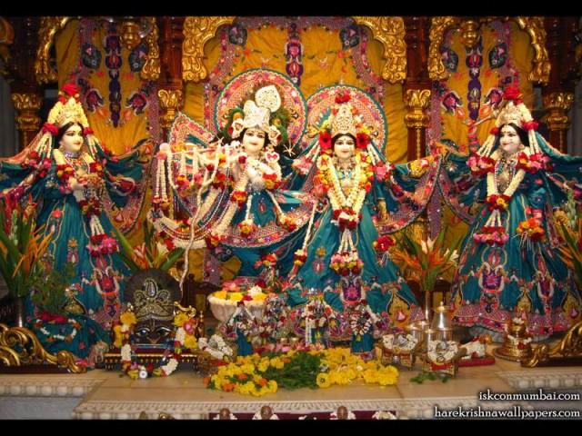 Sri Sri Radha Rasabihari Lalita Vishakha Wallpaper (003)