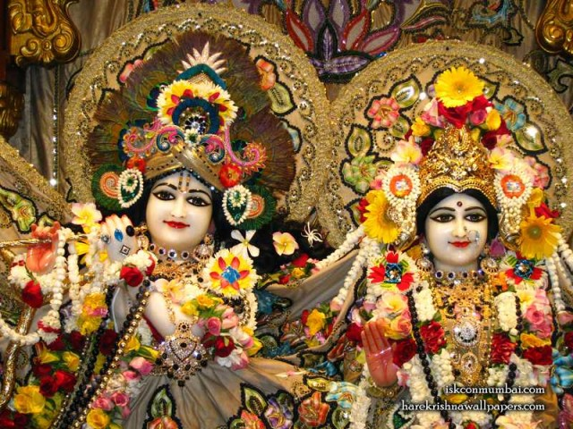 Sri Sri Radha Rasabihari Close up Wallpaper (006)
