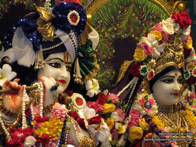 Sri Sri Radha Rasabihari Close up Wallpaper (022)