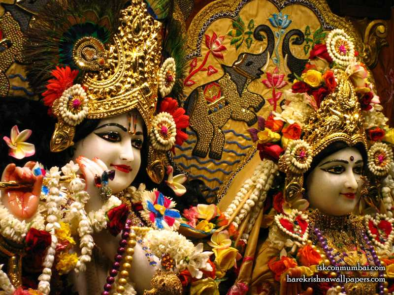 Sri Sri Radha Rasabihari Close up Wallpaper (028)