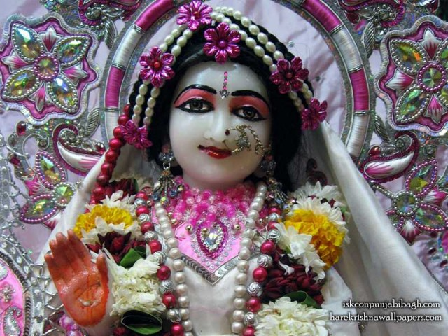 Sri Radha Close up Wallpaper (001)