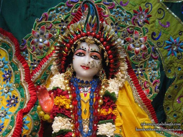 Sri Radha Close up Wallpaper (004)