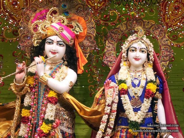 Sri Sri Radha Krishna Close up Wallpaper (006)